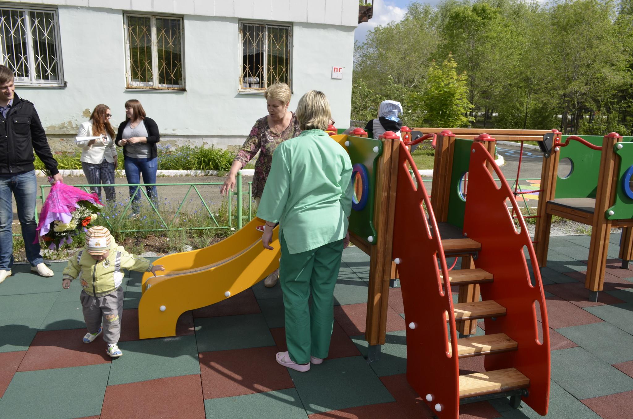 Открытие детской площадки